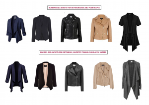 blazers and jackets for different shapes
