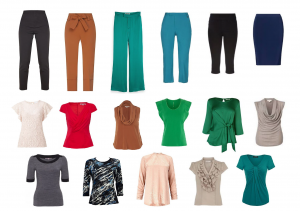 work wardrobe for hourglass and pear